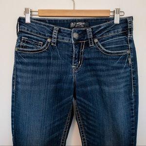 Silver Jeans Women Size 28 Suki Capri